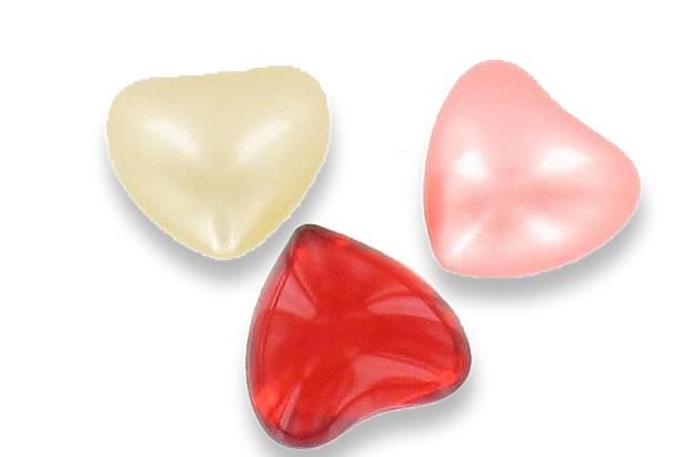 Perles de bain en formes de coeurs