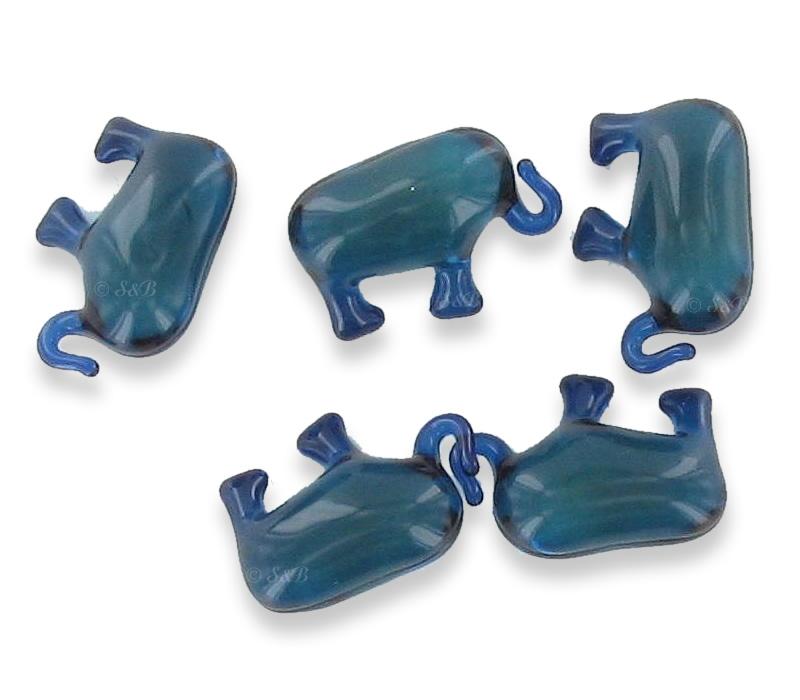 Perles de bain animaux - éléphant bleu
