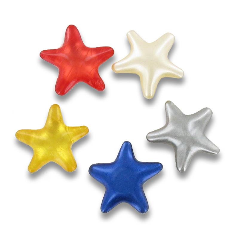 Perles de bain fantaisies en forme d'étoiles.